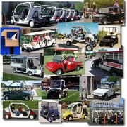 Zev Solution collage of golf carts